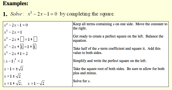 Blog Posts Integrated Math 2 with Ms Luque – Completing the Square Worksheets